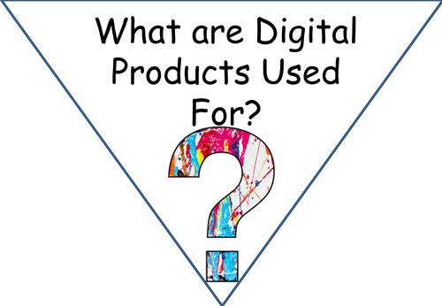 Digital Products Uses Display Bunting Cambridge Nationals I-Media ICT KS3/4