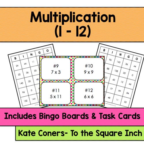 Multiplication Bingo (Factors 1-12)