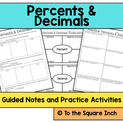 Percents and Decimals Notes