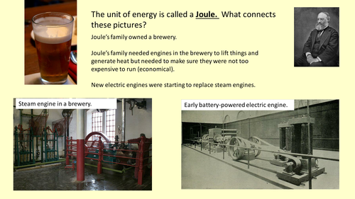 Two lessons on Potential and Kinetic Energy for KS4 - including practical and homework