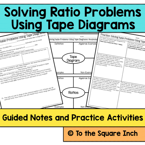 Ratios with tape diagrams notes by katembee teaching resources tes ccuart Choice Image