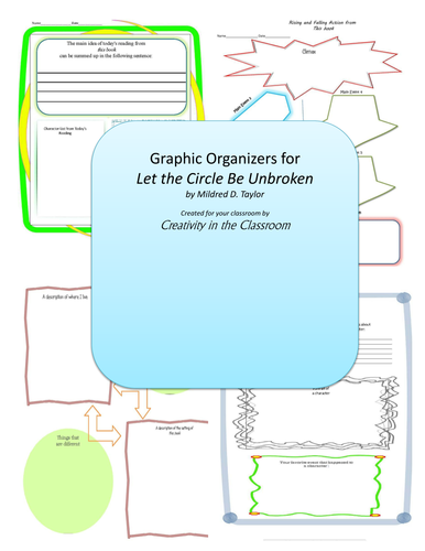 Graphic Organizers for Circle Be Unbroken