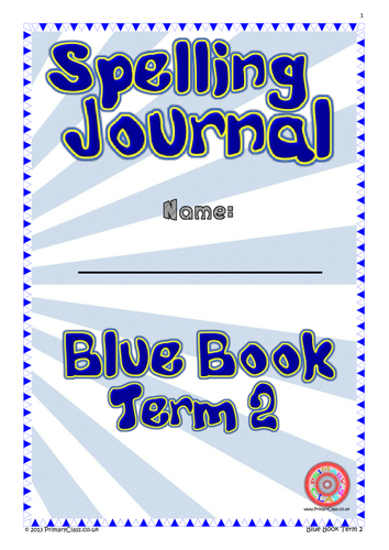 Spelling Journal - Blue Book Term 2 - Year 2 (Age 6/7) National Curriculum 2014