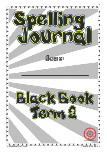 Spelling Journal - Black Book Term 2 - Year 7+ (Age 11+)