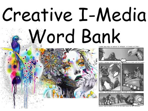Creative I-Media Word Bank. Cambridge Nationals Level 1/2 KS4