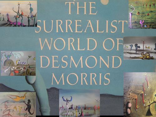 KS3 Yr 8 project on Surrealism using Desmond Morris, Fantasy landscape painting,  black pen drawing