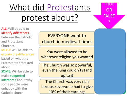 What did Protestants Protest about? The origins of the Protestant Church