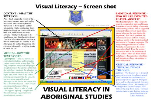 Visual literacy in Aboriginal Studies