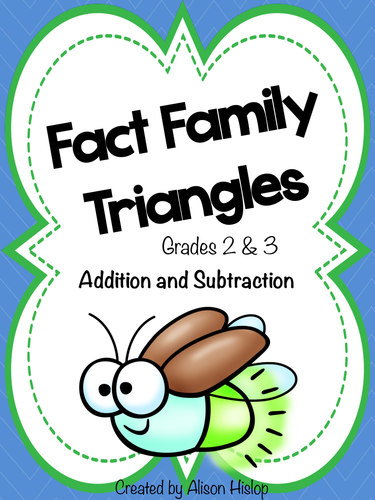 Fact Family Triangles - Addition and Subtraction