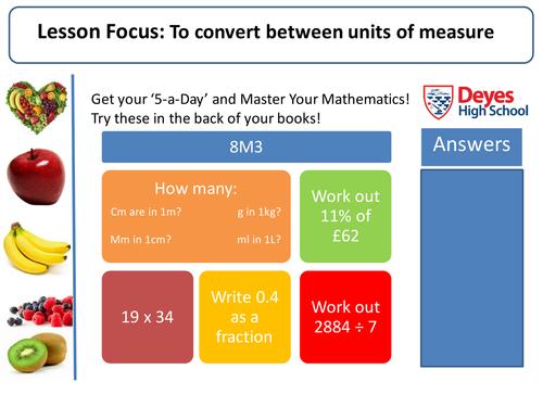 Measure and Area Topic! (Converting units, Perimeter, Rectangle, Triangle, Parallelogram, Trapezium)