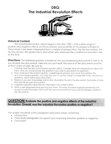 industrial revolution overall was it positive or negative dbq industrial revolution overall was it positive or negative dbq essay writing tips by linni0011 teaching resources tes