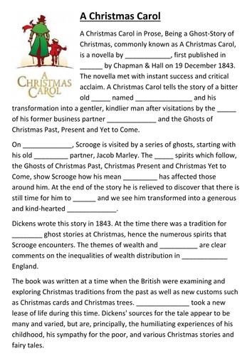 A Christmas Carol Pdf.A Christmas Carol Activity Pack By Historiavictoria