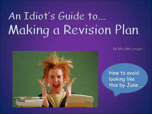 How to Make a Revision Plan