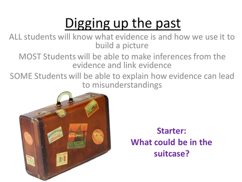 Digging up the Past: An Introduction to using Evidence as a Historian