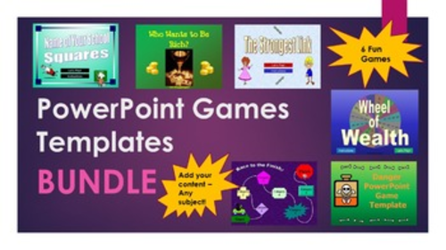 Powerpoint Game Templates Bundle By Happyedugator Teaching