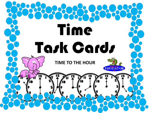 Time Task Cards - Time to the Hour