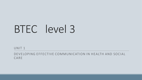 stalis level 2 unit 1 communication