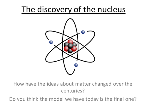 Physics A-Level Year 2 Lesson - Discovery of the nucleus (PowerPoint AND lesson plan)