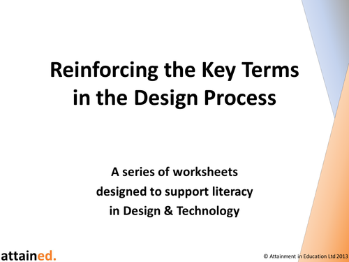 Reinforcing the Key Terms in the Design Process