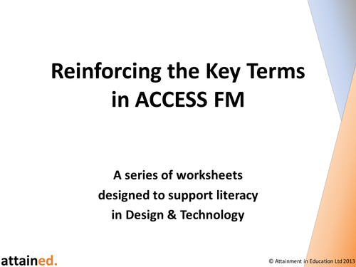 Reinforcing the Key Terms in ACCESS FM