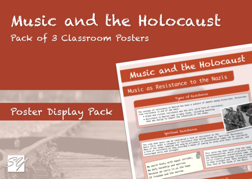 Music and the Holocaust – Classroom Poster Display Pack