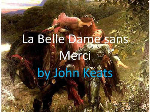 An examination of la belle dame by john keats