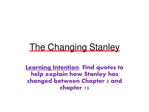Holes - The changing Stanley