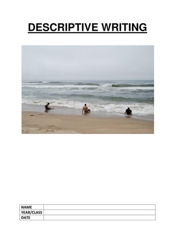 descriptive writing about the beach