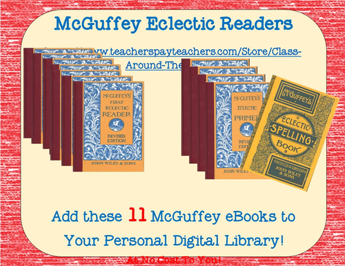 McGuffey Eclectic Readers, Speller and Primer - Over a thousand pages