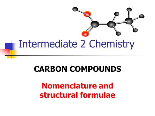 Nomenclature: naming alkanes and alkenes