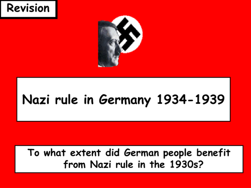 Did the German people benefit from Nazi rule in the 1930's? Essay Sample