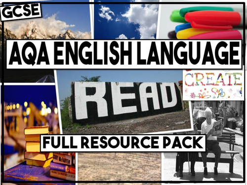 AQA English Language Paper 1 and Paper 2 - Complete Resources Pack