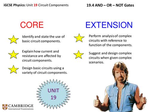 iGCSE Physics - AND, OR, NOT Logic Gates