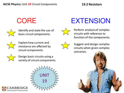 iGCSE Physics - Resistors and Calculations