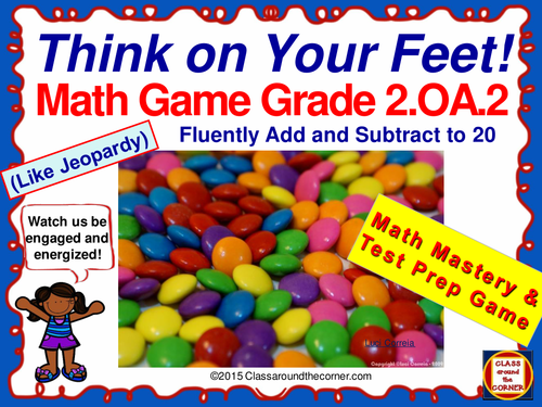 Grade 2 THINK ON YOUR FEET MATH! Interactive Test Prep Game—Add and Subtract 2.OA.2