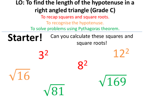 Pythagoras - Finding hypotenuse, short side and 3D!