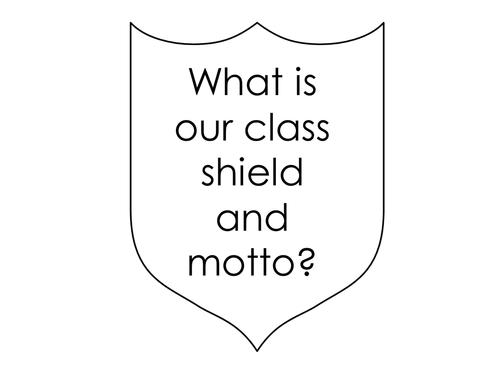 Tutor activities - designing a class shield