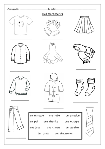 FRENCH ~ CLOTHING ~ Des Vêtements ~ Introduction by ...