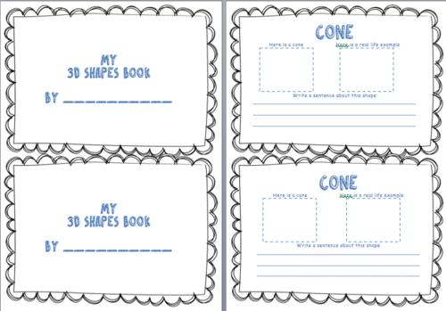 Ks1 And Ks2 My 3d Shape Booklet Activity Worksheets Bundle