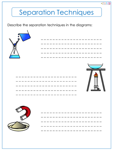 Separation Techniques Worksheet By Thescienceresourcebank