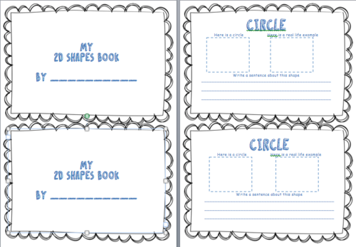 Ks1 And Ks2 My 2d And 3d Shape Booklet Activity