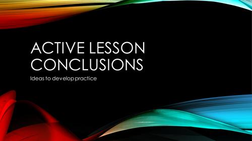 Active Assessment: Lesson Conclusions