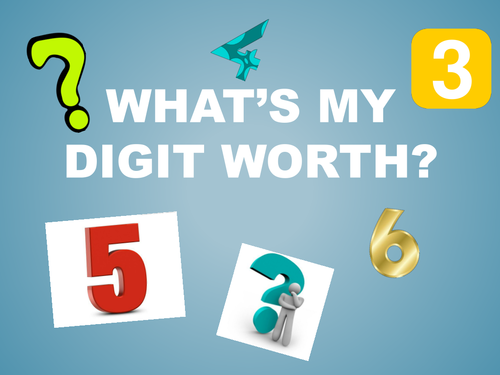 Place Value- identifying the value of a digit ppt