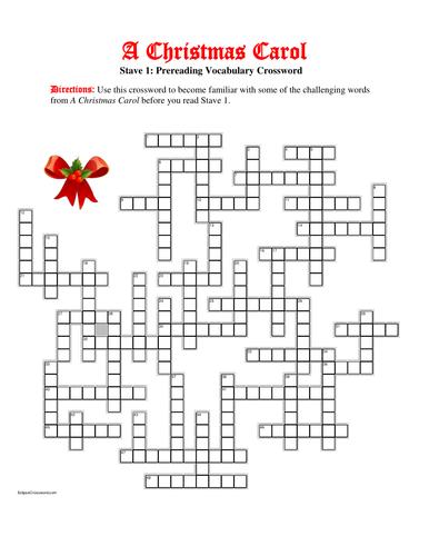 A Christmas Carol Stave 1: 50-word Prereading Vocabulary