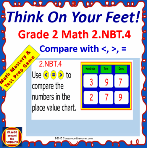 Grade 2 Think On Your Feet Math 2nbt4 Interactive Test Prep Game