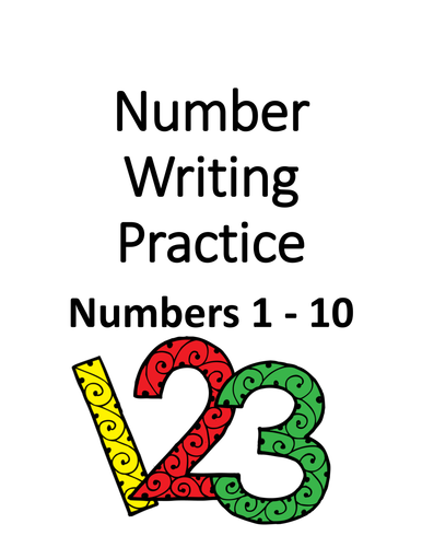 Number Writing 1 - 10