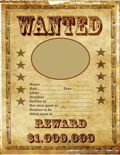 Wanted Poster for Back to School