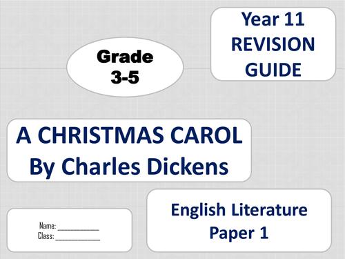 A Christmas Carol mini revision guides