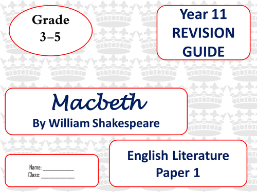macbeth mini revision guides for new spec by josephs15 teaching resources tes. Black Bedroom Furniture Sets. Home Design Ideas