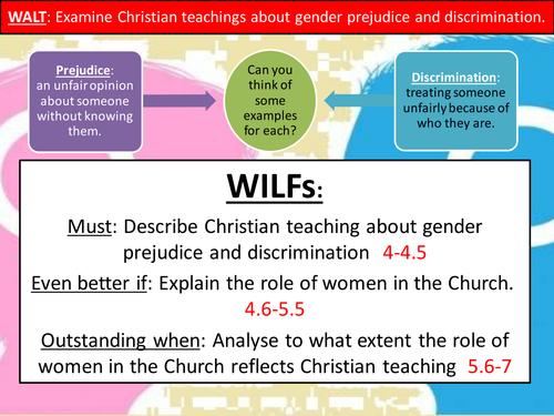 Christian views on gender prejudice and discrimination